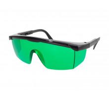 Очки для работы с лазером (зеленые)