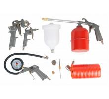 Набор пневмоинструментов 5 предметов (к/р с верхним бачком) FUBAG