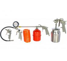 Набор пневмоинструментов 5 предметов (к/р с нижним бачком) FUBAG
