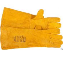 Рукавицы д\сварщиков желтые