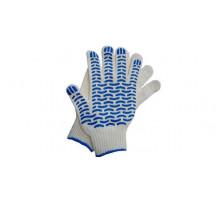 """Перчатки х/б 7,5кл. 6 ниток с ПВХ (Волна), размер 10,5"""" ЛАФА зимние черные"""