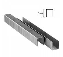 Скобы для мебельного степлера 6 мм (1000шт.)